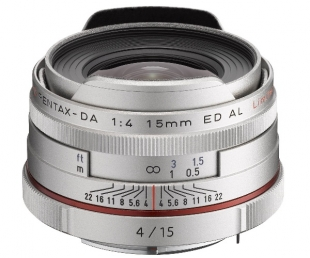 Pentax HD DA 15mm F4 ED AL Limited Silver